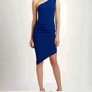 BCBGMaxAzaria Lesli One Shoulder Blue Dress